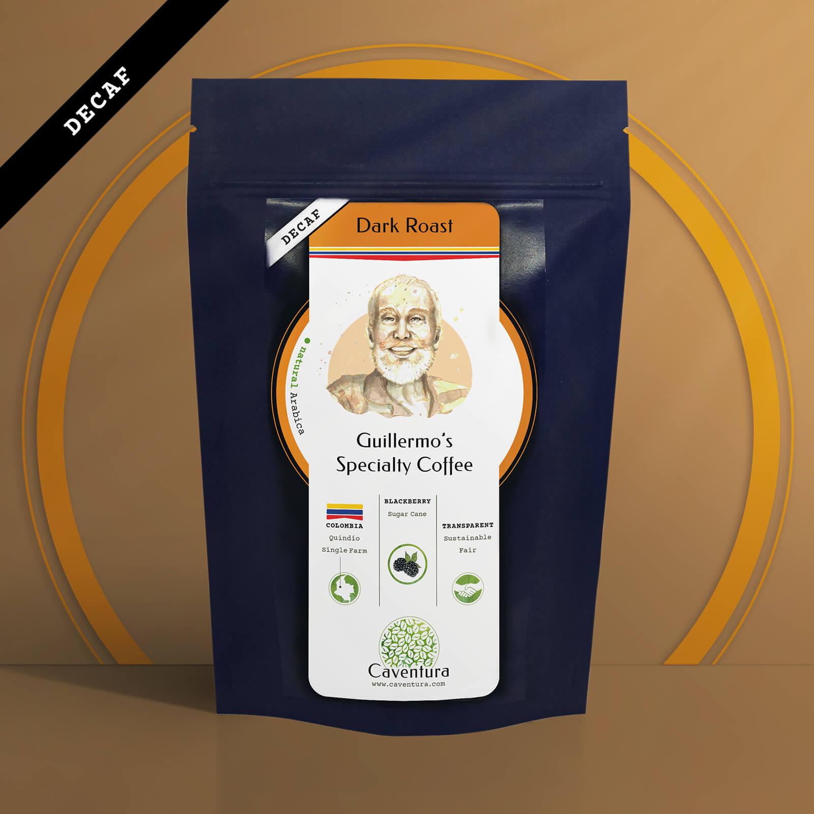 Guillermo's Specialty DECAF Coffee – Dark Roast