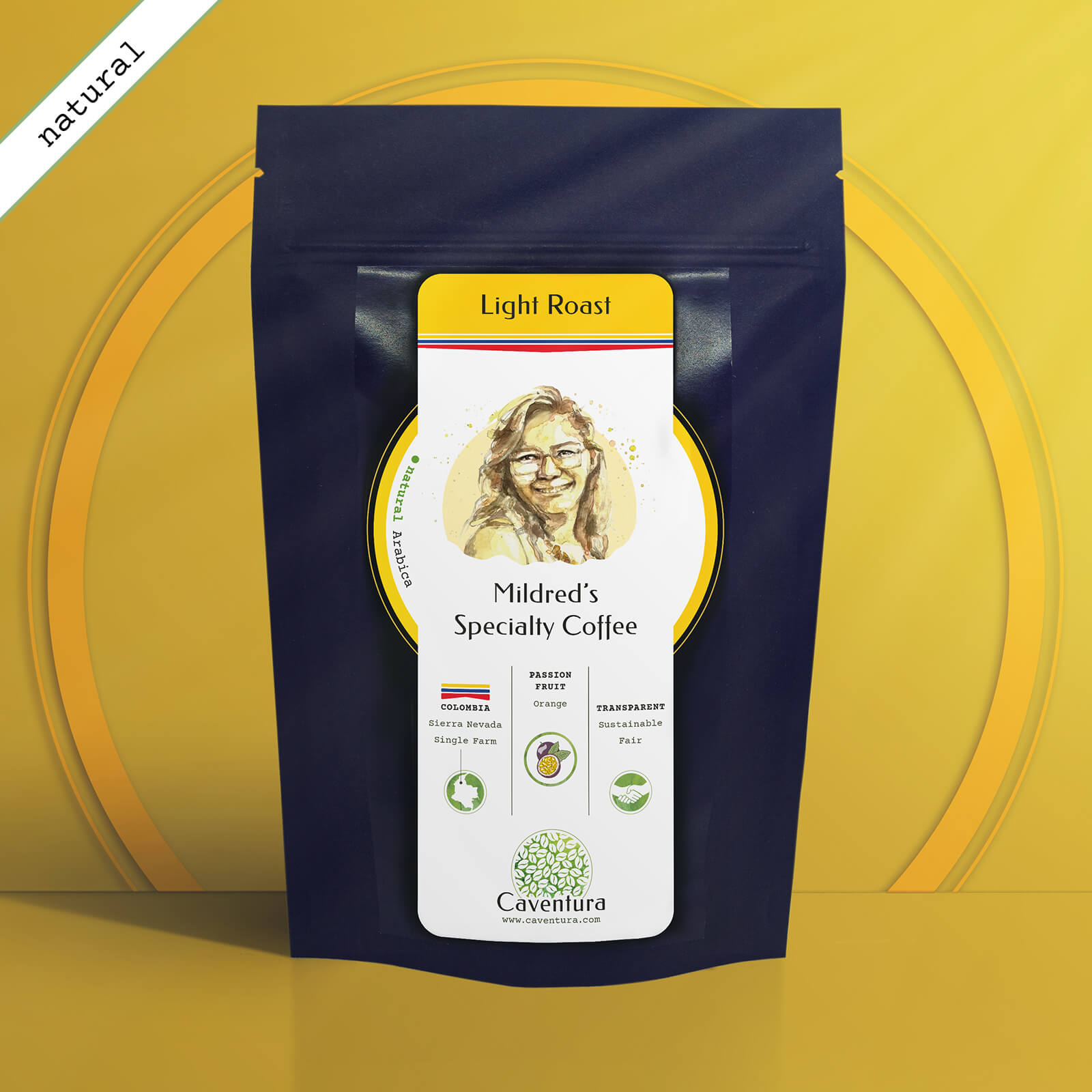 Mildred's Specialty NATURAL Coffee – Light Roast